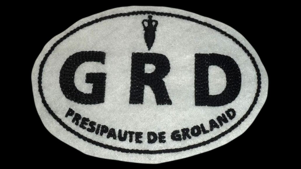 Broderie autocollant Groland